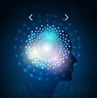 人工智能科技大脑背景矢量图