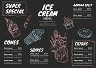 美味冰淇淋黑板菜单矢量下载