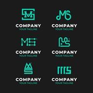 绿色创意企业LOGO矢量模板
