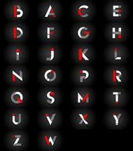 创意大写字母标志矢量素材下载