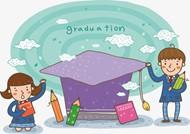 卡通毕业人物矢量素材下载