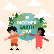 地球母親日國際友人矢量圖片