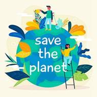 關愛地球環境矢量素材