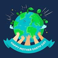 地球母親日綠色環保夢矢量圖下載