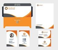 橙色企業視覺元素矢量模板