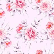 粉色玫瑰花背景矢量图
