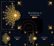 曼陀罗背景矢量图