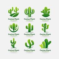 仙人掌植物标志矢量图片