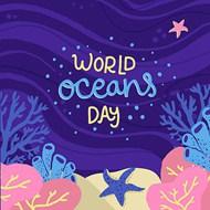 世界海洋日2矢量图