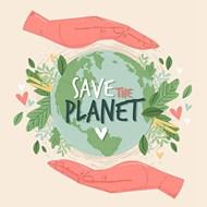 爱护地球环境宣传矢量图