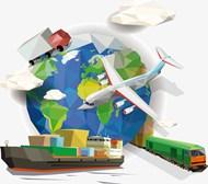 几何地球交通运输工具矢量素材下载