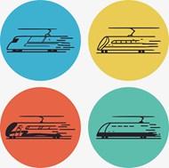 多种铁路火车矢量图片
