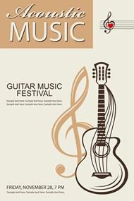 吉他音乐节海报6矢量图下载