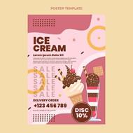 冰淇淋甜品海报矢量下载