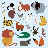 可爱卡通野生动物矢量素材下载