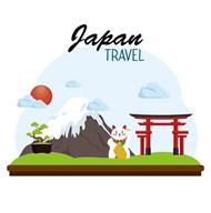 日本旅行元素矢量素材