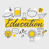 教育元素矢量图下载