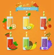 美味果汁矢量图下载