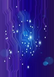 蓝色电子线路板背景矢量图