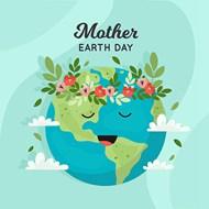 地球日绿化矢量模板