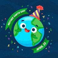 庆祝地球母亲日矢量下载