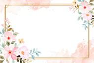 手绘花卉装饰边框矢量图下载
