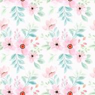 粉色水彩花朵背景矢量素材下载