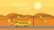 夏季旅游主题矢量图片