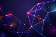 抽象粒子科技背景矢量模板