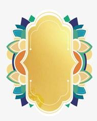 金色复杂花纹框矢量模板