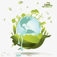 绿色环保地球家园矢量模板