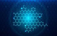 加密货币信息科技背景矢量素材