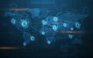 加密货币信息科技背景矢量模板