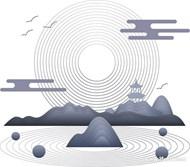 中国风传统元素矢量图下载