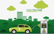 绿色能源汽车充电矢量模板