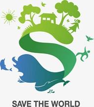 保护环境抽象插画矢量模板