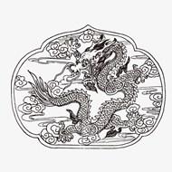 中国龙图案矢量素材