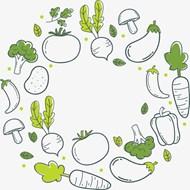 通手绘蔬菜矢量图片