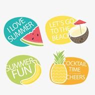 夏天水果标签矢量素材下载