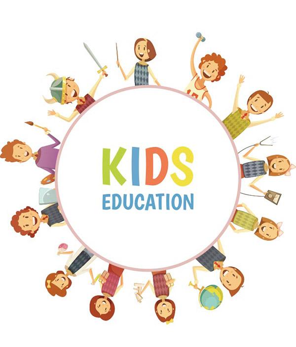 儿童教育矢量模板