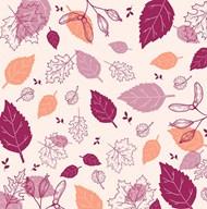 手绘树叶秋季背景矢量图下载