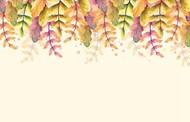 水彩秋天秋季背景矢量模板