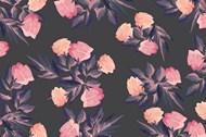 水彩花卉无缝背景矢量素材下载