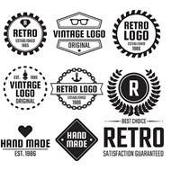 复古标签设计矢量图