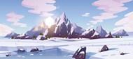 雪山冰川矢量下载