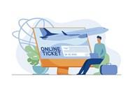 在线购机票插画矢量素材