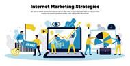 互联网营销战略插画矢量素材下载