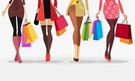 购物美女人物矢量图片