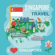 新加坡旅游海报矢量素材下载