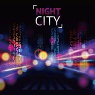 城市夜景模糊背景矢量图片